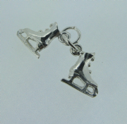 Sterling silver pair of Ice skates charm